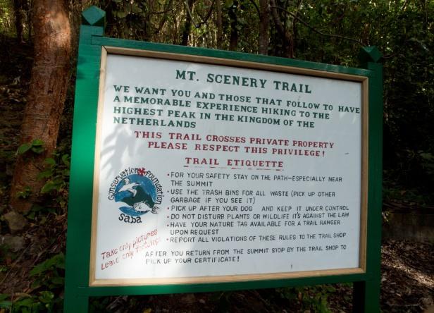 Cranford - Saba, Mt. Scenery trailhead