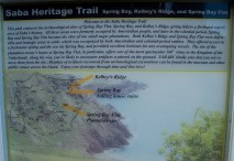 Cranford - Trailhead sign from Saba Heritage Trail