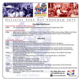 Saba Day Program 2015