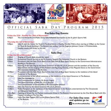 Saba Day Program 2015